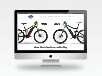 Atown Bikes Web Design
