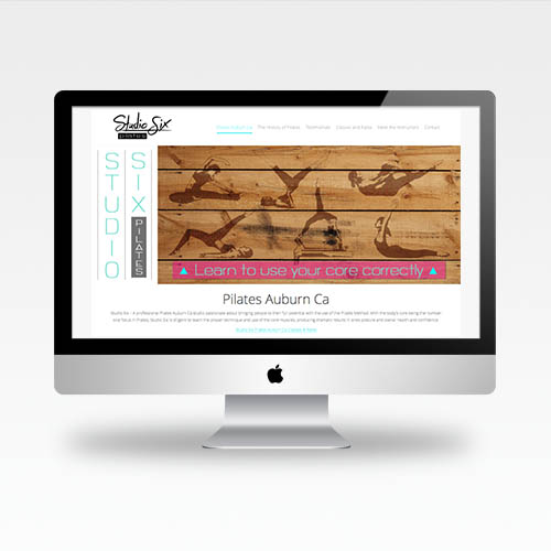Web Design Auburn Ca - Studio Six Pilates