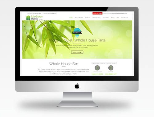 Web Design San Diego Ca - My Green Home