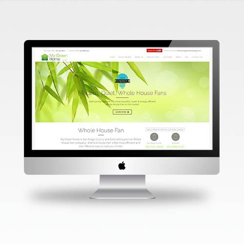 Web Design San Go Ca My Green Home