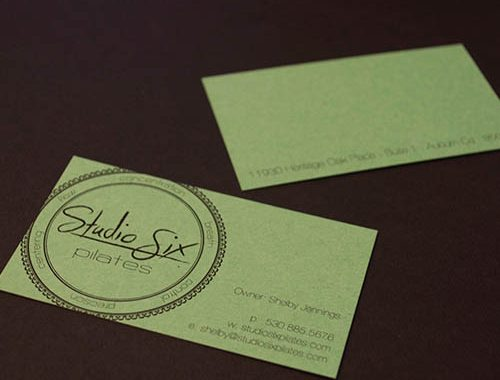 Graphic Design Auburn Ca - Studio Six Pilates
