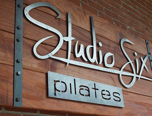 Hand Made Wood & Metal Sign - Studio Six Sign